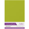 Crafter's Companion Centura Pearl 10 Sheet Card Pack - Chartreuse