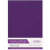 Crafter's Companion Centura Pearl 10 Sheet Card Pack - Deep Purple