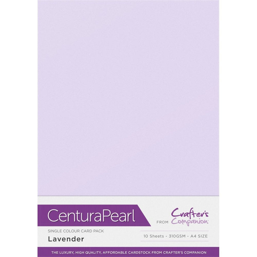 Crafter's Companion Centura Pearl 10 Sheet Card Pack - Lavender