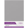 Crafter's Companion Centura Pearl 10 Sheet Card Pack - Platinum