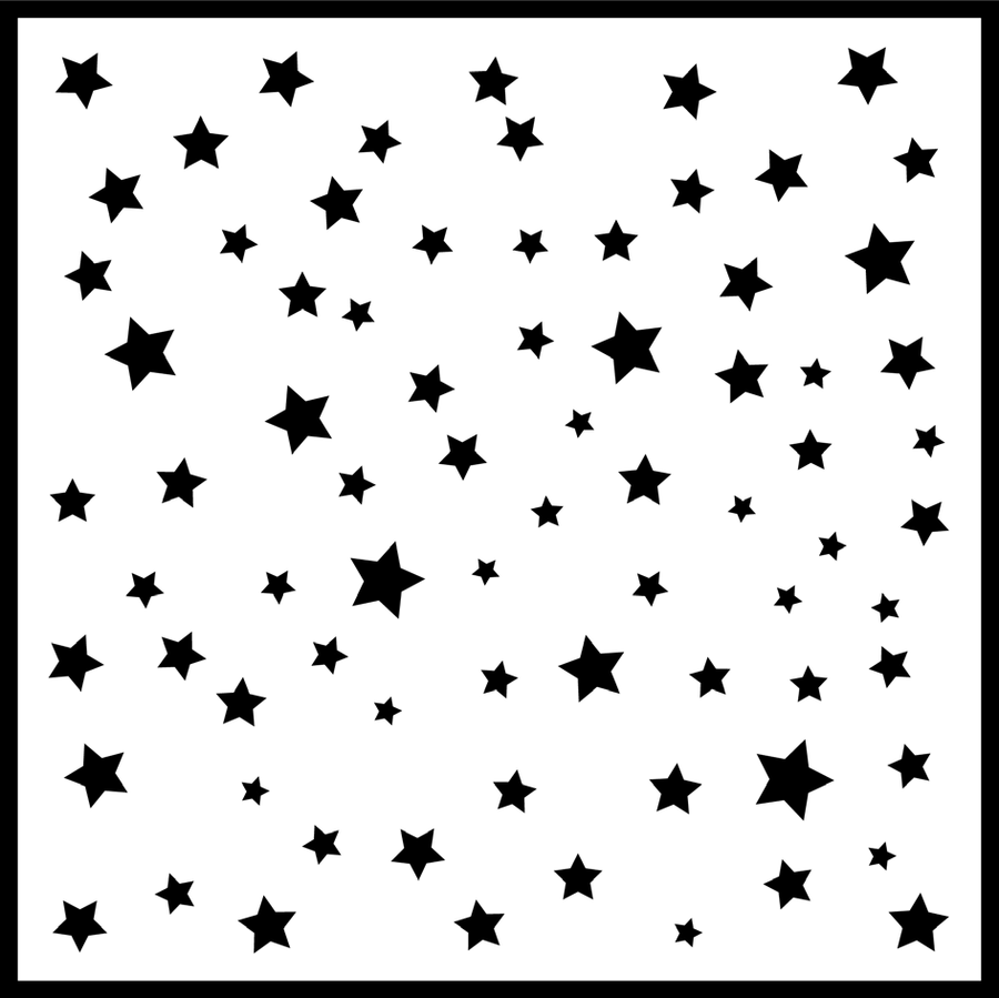 Sue Wilson Stencil - Star Struck Stencil 6 x 6 designed by Sue Wilson - CEST031