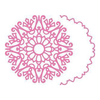 Cheery Lynn Designs - Snowflake Doily with Angel Wing - DL279