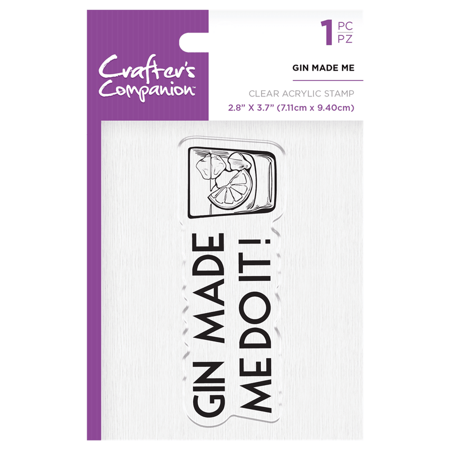 Crafters Companion - Clear Acrylic Stamps - Gin Made Me