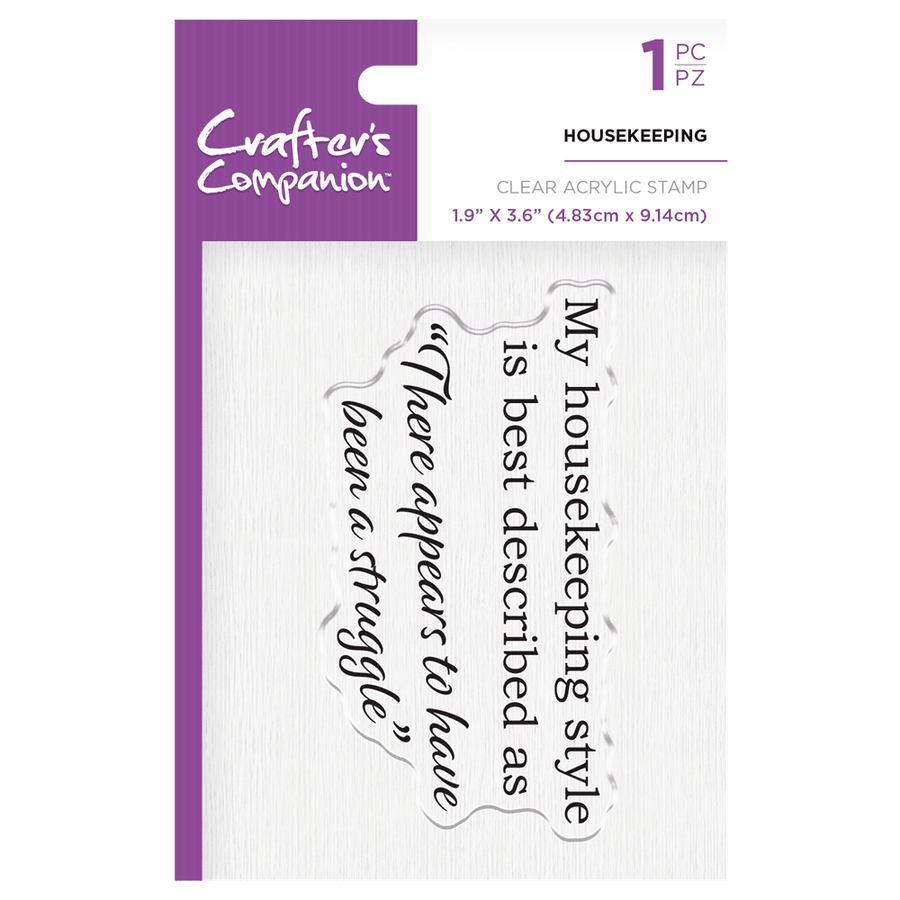 Crafters Companion - Clear Acrylic Stamps - Housekeeping