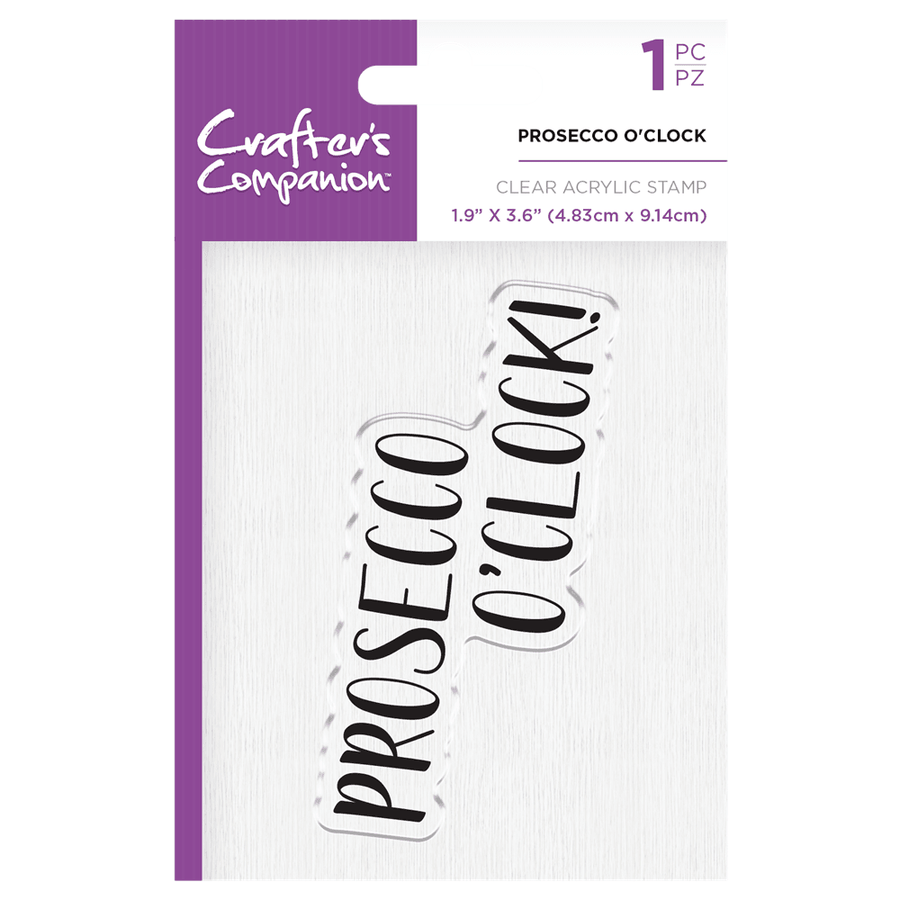 Crafters Companion - Clear Acrylic Stamps - Prosecco O'Clock