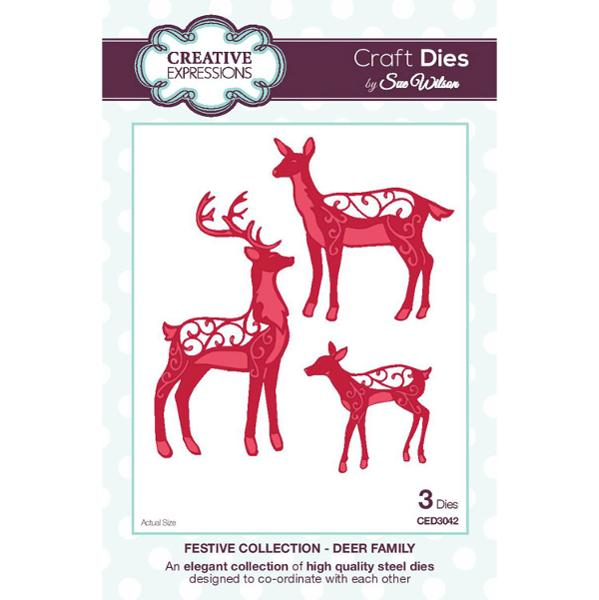 Craft Dies by Sue Wilson - Festive Collection - Deer Family - CED3042