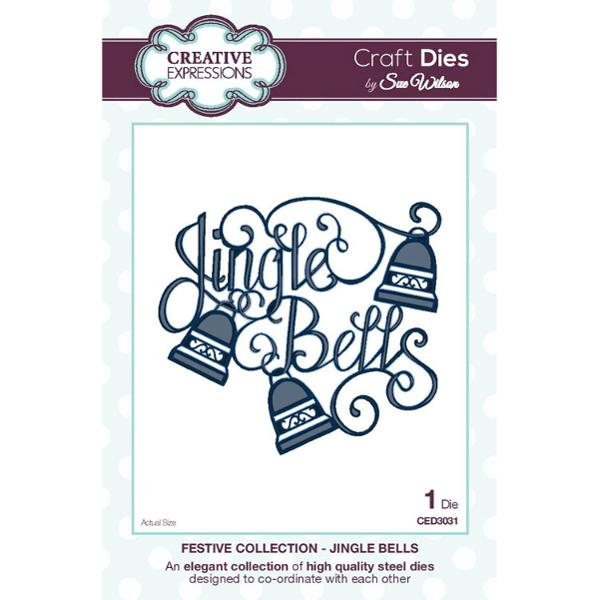 Craft Dies by Sue Wilson - Festive Collection - Jingle Bells - CED3031