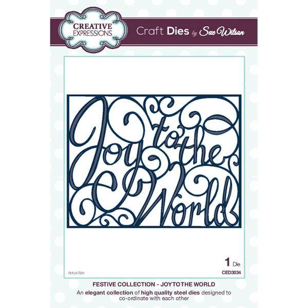 Craft Dies by Sue Wilson - Festive Collection - Joy To The World - CED3034