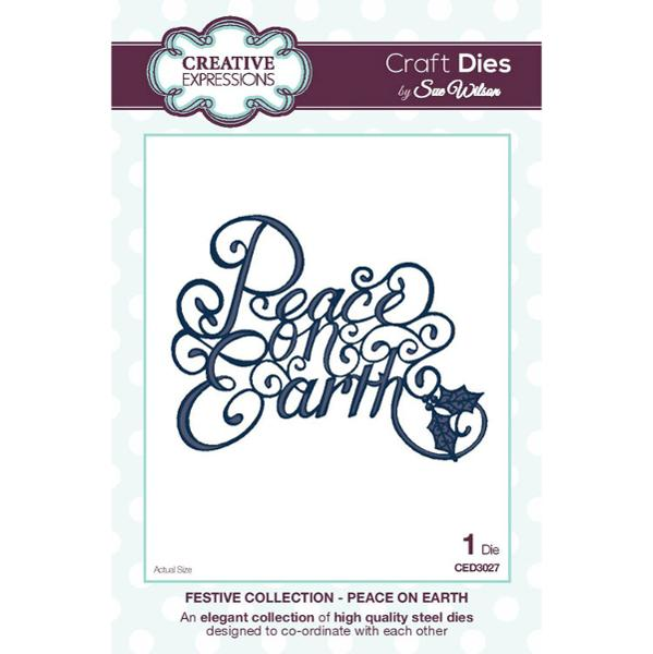 Craft Dies by Sue Wilson - Festive Collection - Peace on Earth - CED3027