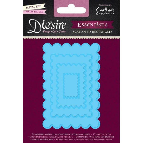 Crafters Companion Diesire Essentials - Scalloped Rectangles Die