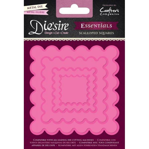 Crafters Companion Diesire Essentials - Scalloped Squares Die