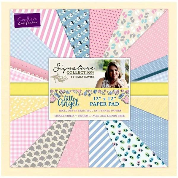 Crafters Companion Sara Signature Collection - Little Angel 12 x 12 Paper Pad