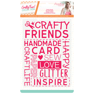 "Sara Signature Collection by Crafters Companion - Crafty Fun - 5"" x 7"" Embossing Folder - Crafty Friends"