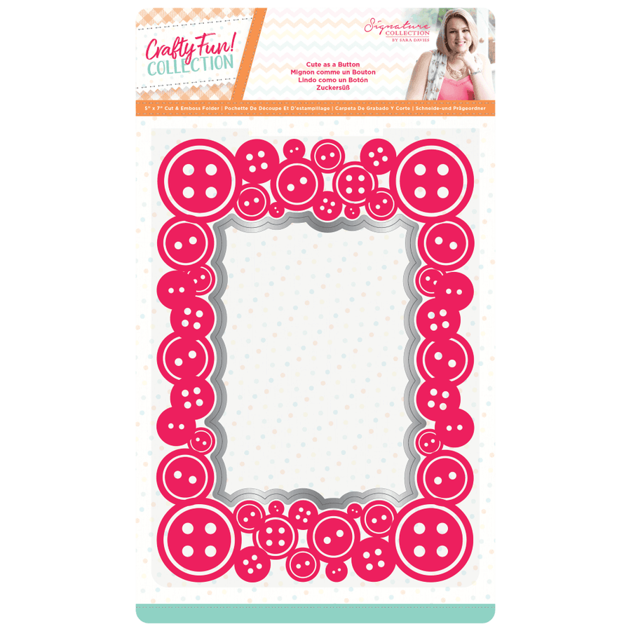 Sara Signature Collection by Crafters Companion - Crafty Fun - Cut & Emboss Folder - Cute as a Button