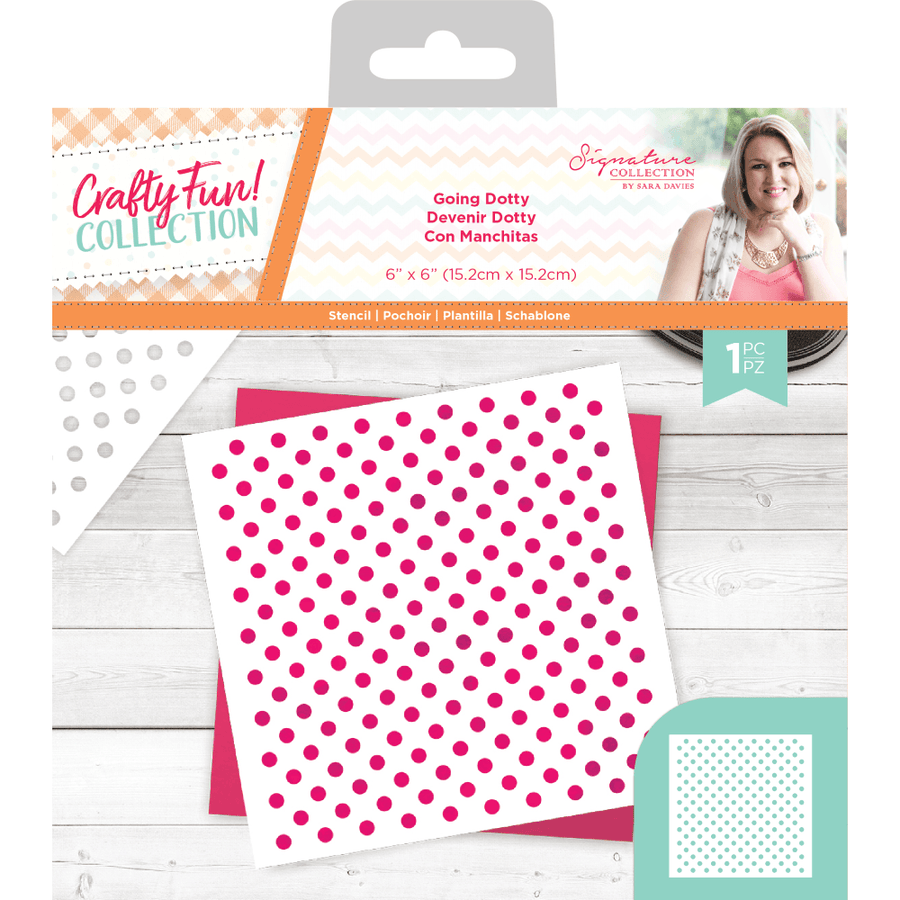Sara Signature Collection by Crafters Companion - Crafty Fun - Stencil - Going Dotty