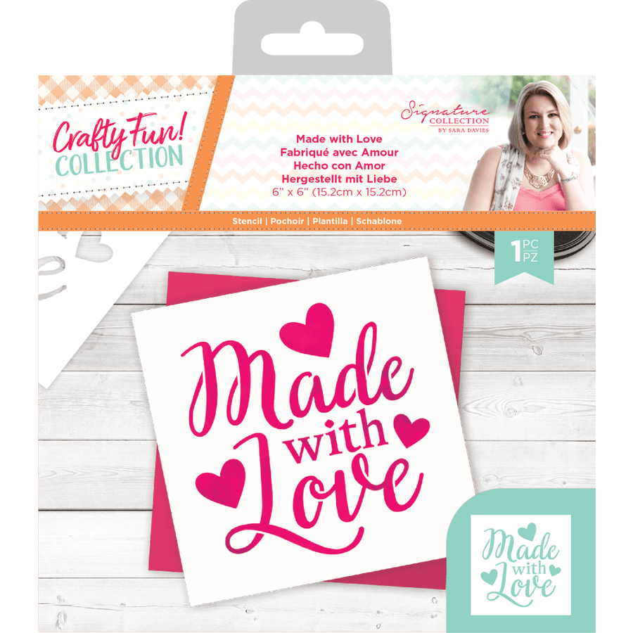 Sara Signature Collection by Crafters Companion - Crafty Fun - Stencil - Made with Love