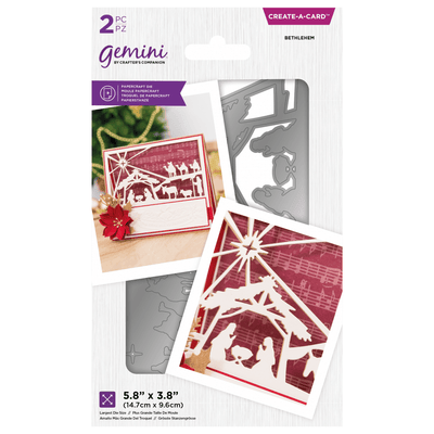 Gemini by Crafters Companion - Create-a-Card Die - Bethlehem
