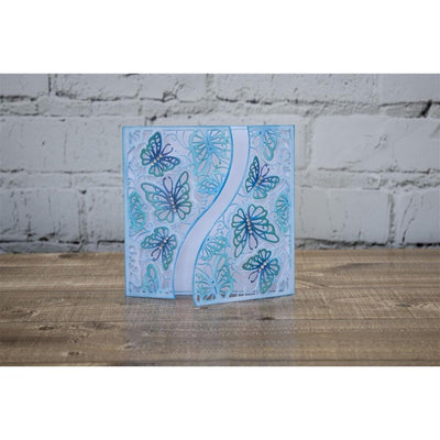 Crafters Companion - Gemini Die - Create-a-Card - Fluttering Wings