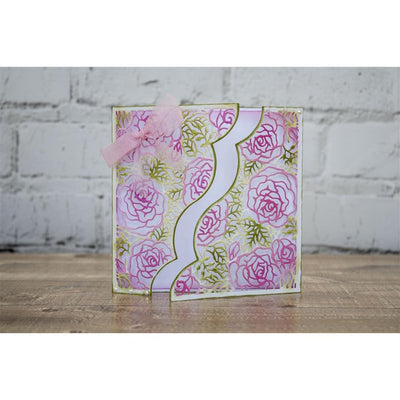 Crafters Companion - Gemini Die - Create-a-Card - Rose Garden