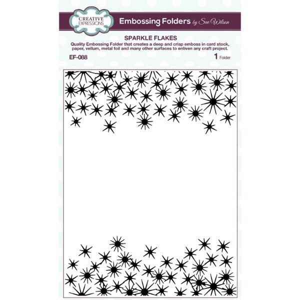 Creative Expressions Embossing Folder - Sparkle Flakes (EF-088)