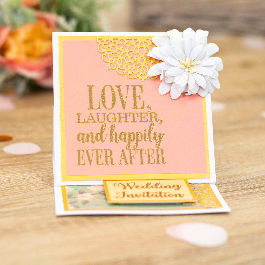 Sara Signature Collection by Crafters Companion - Garden of Love - Metal Die - Wedding Invitation