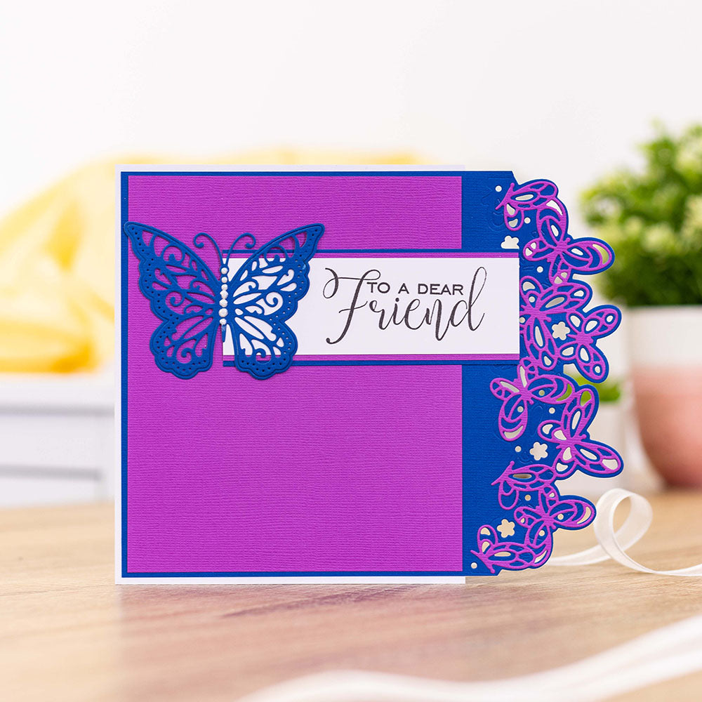 Gemini Edgeable two sided Dies Butterflies Hearts Flowers by Crafter/'s Companion