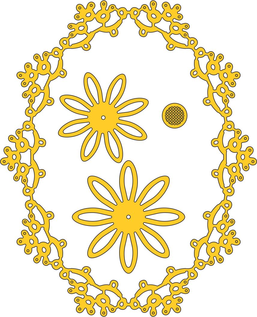 Cheery Lynn Designs Doily Dies - Manon's Wedding Garland (DL218)