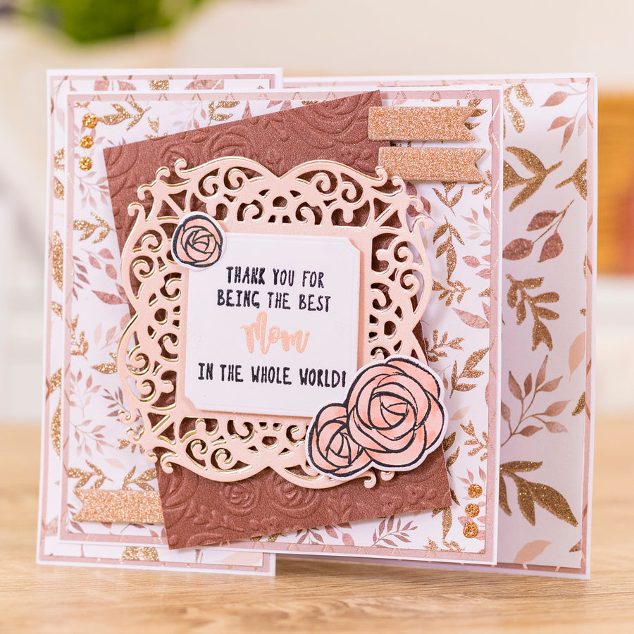 Sara Signature Collection by Crafters Companion - Rose Gold - Metal Die - Ornate Frame
