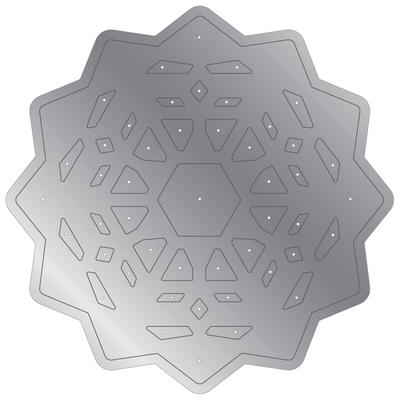 Gemini by Crafters Companion Double-Sided Die - Snowflake Mandala