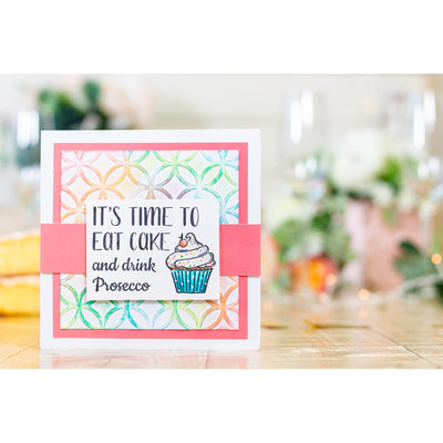 Crafters Companion - Clear Acrylic Stamps - Drink Prosecco
