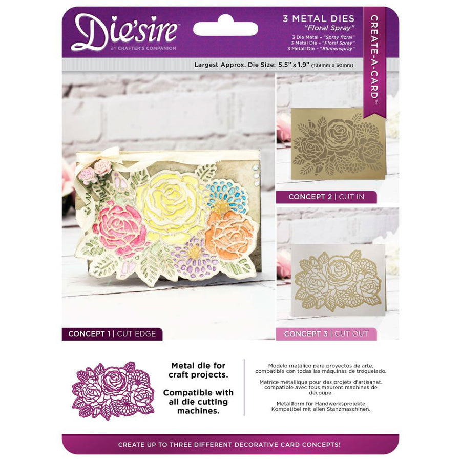 Crafters Companion Diesire - Create a Card - Floral Spray - DS-CAD-FLSP