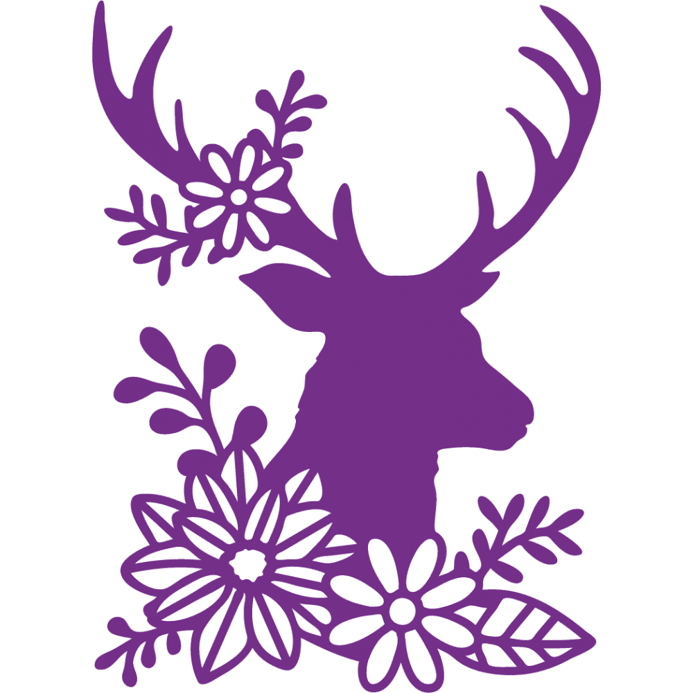 Gemini Die By Crafters Companion Elements Silhouette Stag Crafts 4 Less