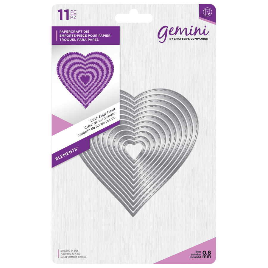 Gemini Die by Crafters Companion - Elements - Stitch Edge Heart