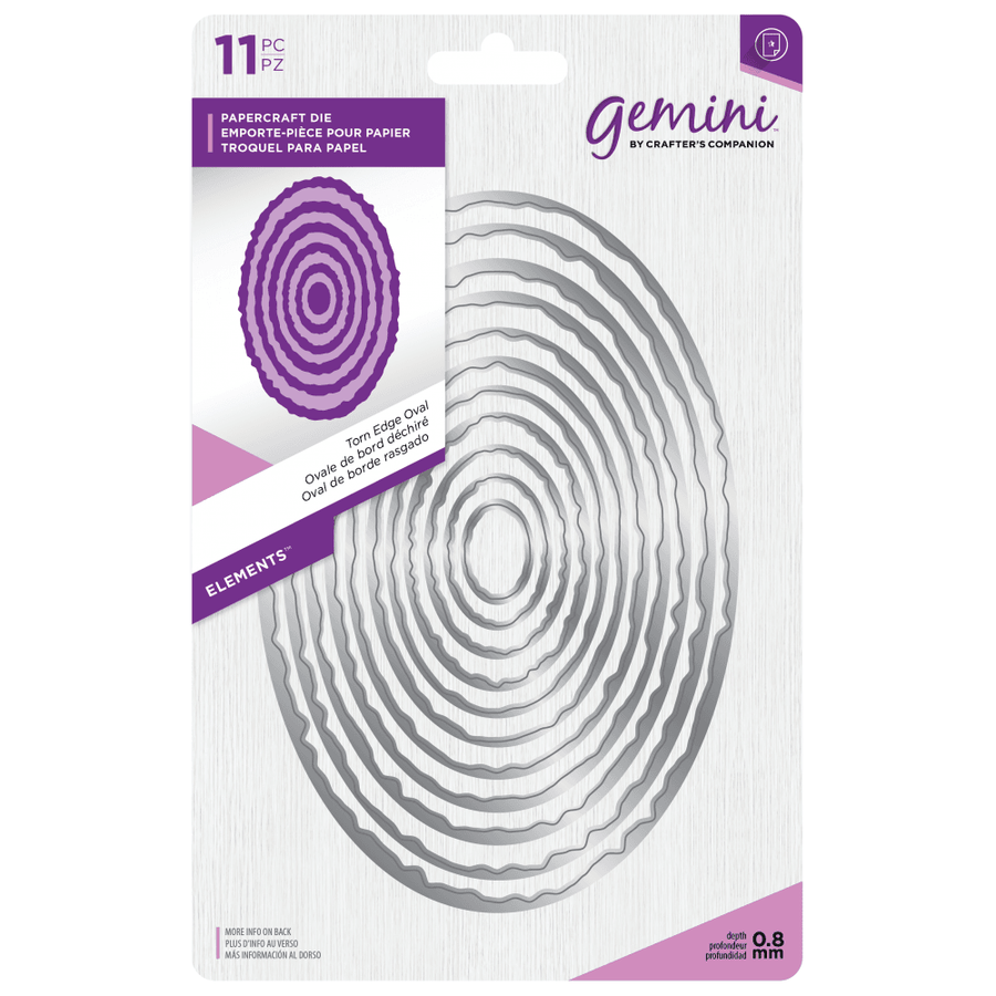 Gemini Die by Crafters Companion - Elements - Stitch Edge Oval
