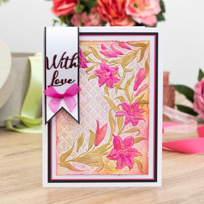 Clear Acrylic Stamp Words of Love Nature/'s Garden Lily Craft Collection