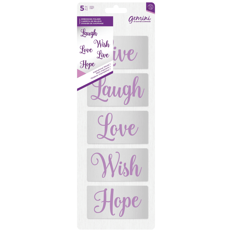 Gemini - Embossing Folder (5PC) - Inspirational Words 1