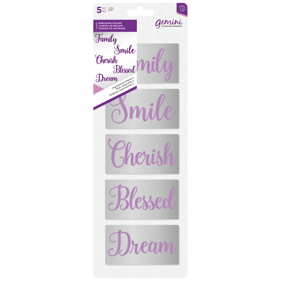 Gemini - Embossing Folder (5PC) - Inspirational Words 2