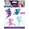 Sara Signature Collection - Enchanted Christmas - Metal Die - Festive Fairies
