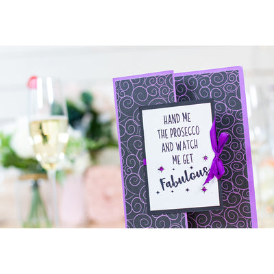 Crafters Companion - Clear Acrylic Stamps - Fabulous Prosecco