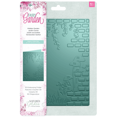 Natures Garden - Fairy Garden - 3D Embossing Folder - Hidden Garden