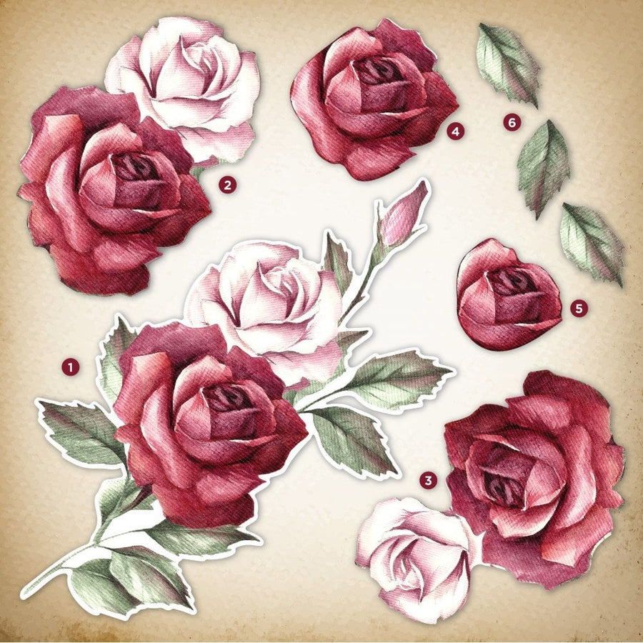 Crafters Companion- Decoupage Topper Pad - Classic Rose