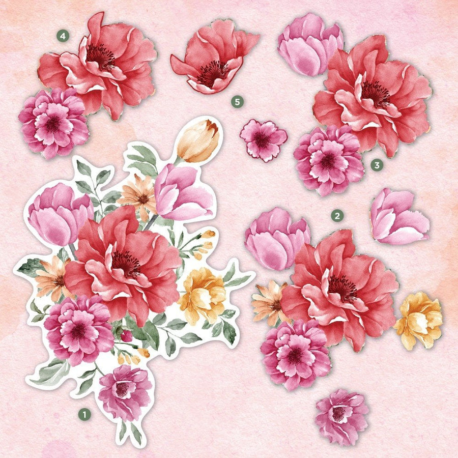 Crafters Companion- Decoupage Topper Pad - Floral Spray