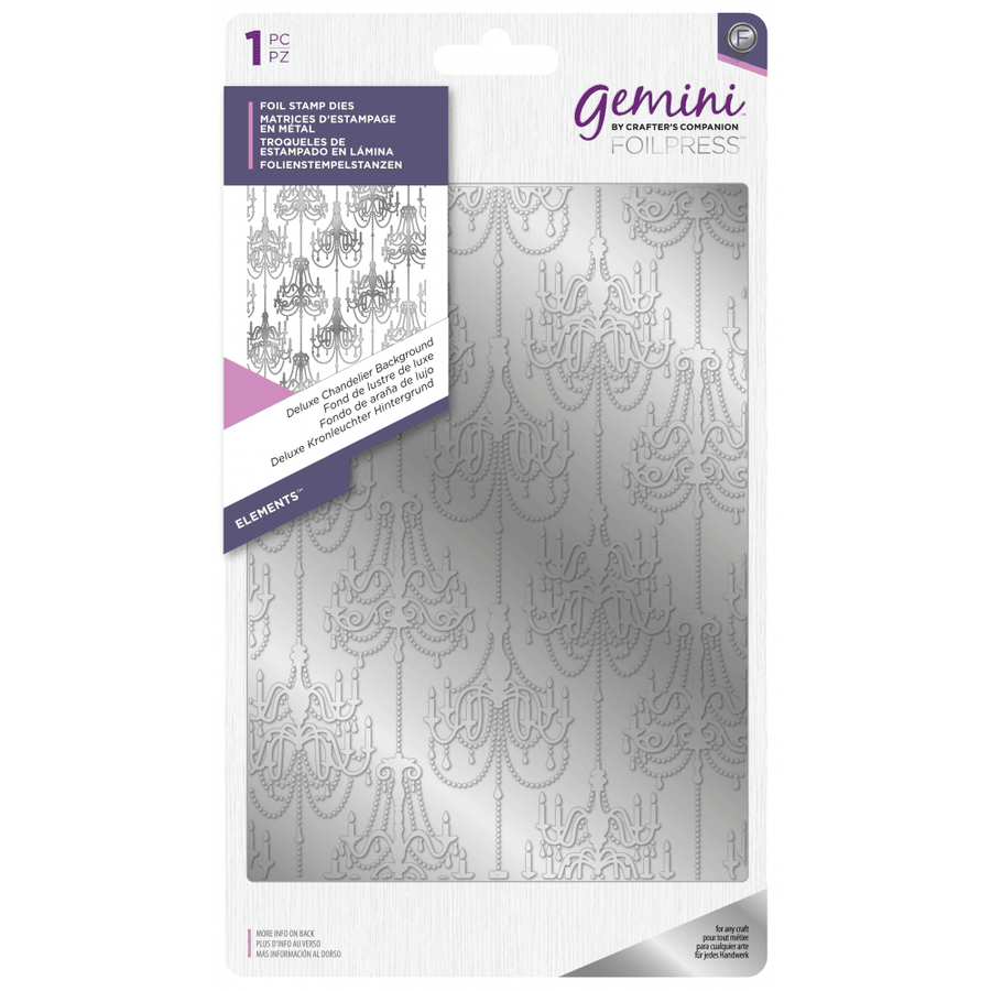Gemini Foil Stamp Die - Elements -  Deluxe Chandelier Background
