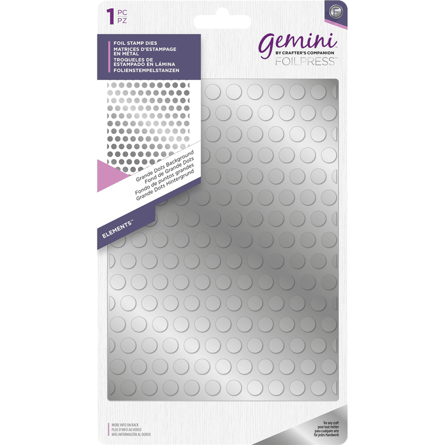 Gemini Foil Stamp Die - Elements -  Grande Dots Background