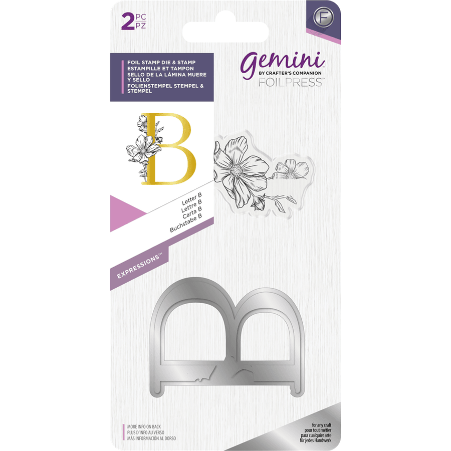 Gemini Foil Stamp Die & Stamp - Expressions - Letter B