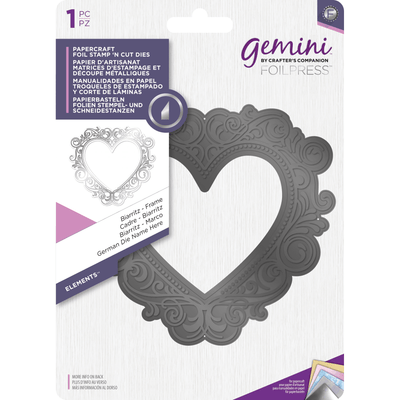 Gemini Foil Stamp 'N' Cut Die - Elements - Biarritz - Frame