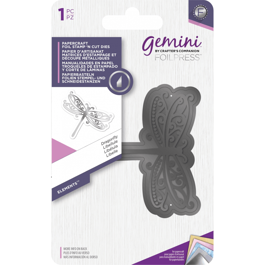 Gemini Foil Stamp 'N' Cut Die - Elements - Dragonfly