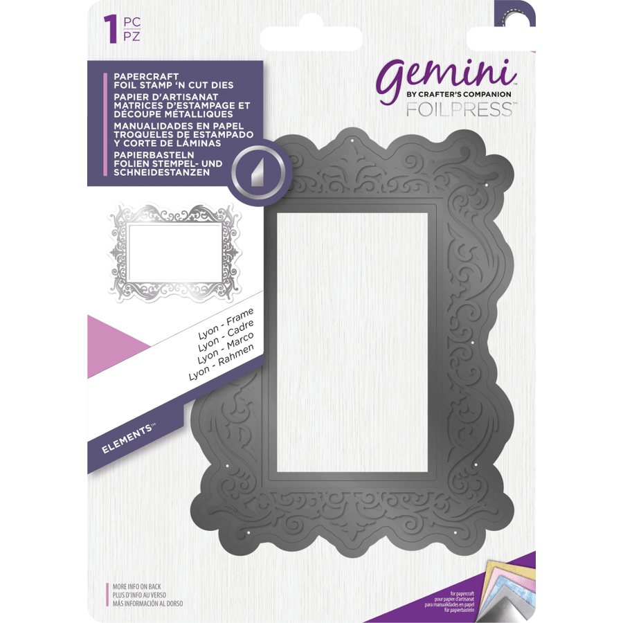 Gemini Foil Stamp 'N' Cut Die - Elements - Lyon - Frame
