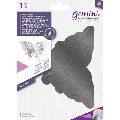 Gemini Foil Stamp 'N' Cut Die - Elements - Papillon - Frame