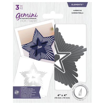 Gemini Foil Stamp 'N' Cut - Elements - Superstar